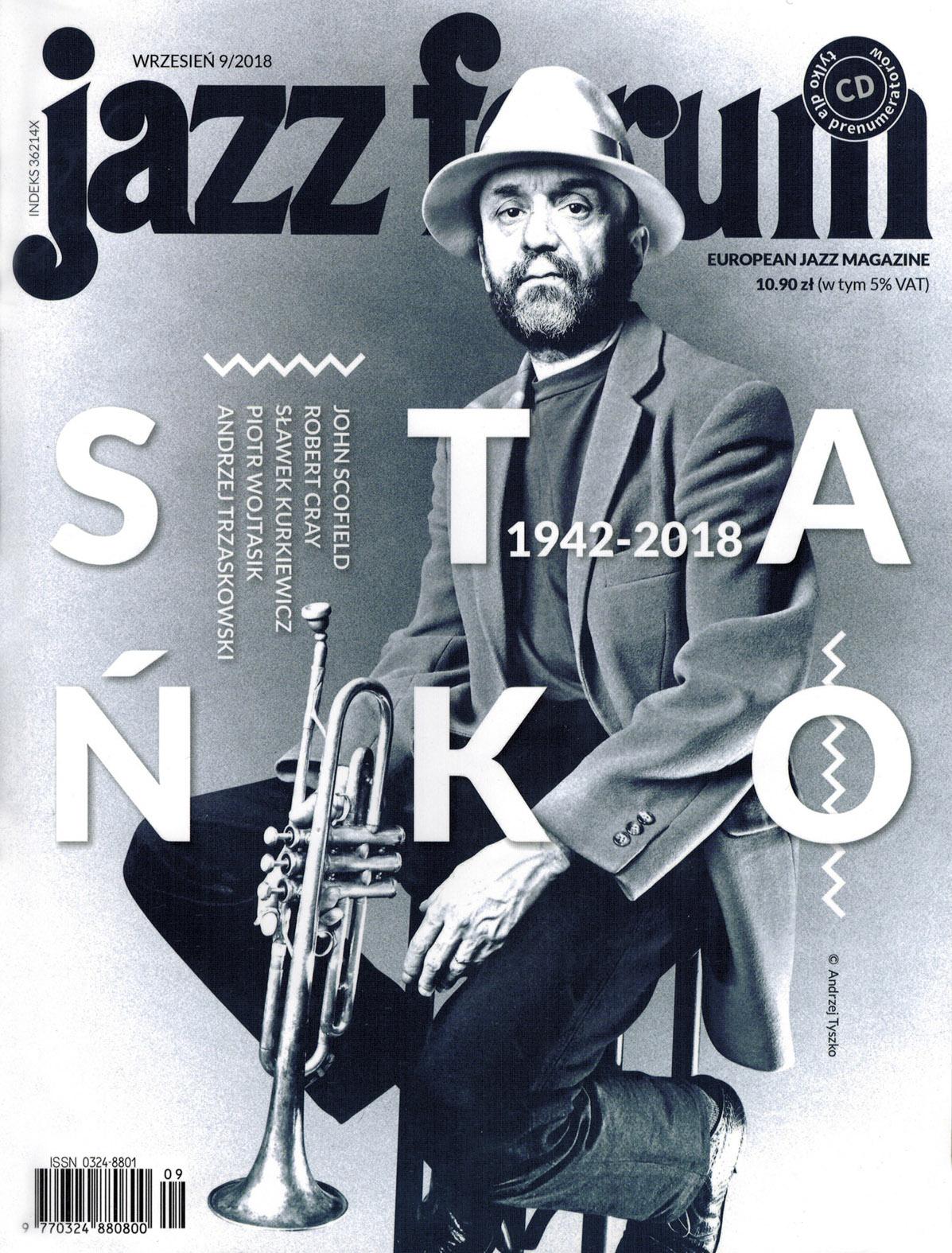 """Jazz Forum 09/2018 - Szymon Trio & Guests """"Togetherness""""- article by Mirosław Carlos Kaczmarczyk"""