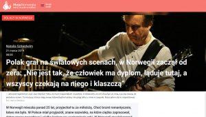 """moja norwegia artykuł mirosław """"carlos"""" kaczmarczyk"""