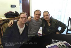 4.Anders Mogensen, Mirosław 'Carlos' Kaczmarczyk, Carl WInter - XII Novum Jazz Festival - photo Jerzy Stelmaszczuk